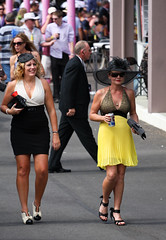 Mature Race Goers (Matthew Kenwrick) Tags: ladies girls party horses hot colour sexy beautiful fashion yellow canon vintage hair fun shoes pretty track models young drinking hats makeup style australia curvy racing class september clothes mature dresses babes queensland tropical horseracing bags females cairns milf tropics catwalk sunnies sungalsses ladiesday 2011 cannonpark cairnsamateurs cannonracepark