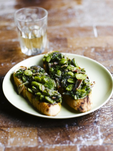 7 Sam Stowell-Broad Bean Dill Bruschetta