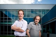 Les professeurs Andras Ruediger et Mohamed Chaker