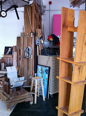 Daniel Moyer's studio at 221 McKibbin St