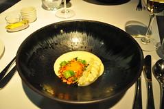 Attica (Kat n Kim) Tags: food glass table restaurant egg knife australia melbourne fork victoria chestnut vic setting yolk ripponlea modernaustralian newzealandchef