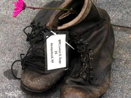 Shoes of slain American