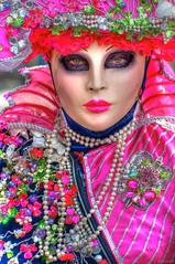 Masques 4 (marcovdz) Tags: carnival woman france look mask femme carnaval venetian provence venise masque regard martigues 2011 1rawhdr vnitien flneriesaumiroir