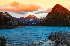 Morning Glory (Phil's Pixels) Tags: sunrise dawn montana glaciernationalpark soe manyglacierhotel swiftcurrentlake manyglacier mountgould grinellpoint