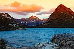 Morning Glory (Phil's Pixels) Tags: sunrise dawn montana glaciernationalpark soe manyglacierhotel swiftcurrentlake manyglacier mountgould grinellpoint