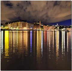 Stockholm lights (Nespyxel) Tags: night reflections lights nightshot sweden stockholm luci riflessi notturna nocturne notte hdr stoccolma reflexes svezia idream colorphotoaward nespyxel stefanoscarselli saariysqualitypictures