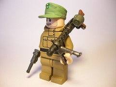 Gebirgsjger machine gunner LEGO (MR. Jens) Tags: world two mountain field germany soldier war lego d wwii cap german ww2 edelweiss troop soldat jager luger jger m43 edelweis mg34 brickarms