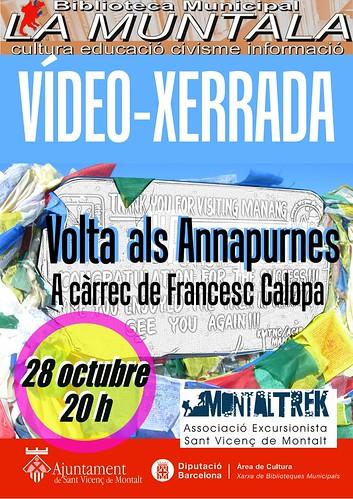 Vídeo-xerrada: la volta als Annapurnes 28 octubre 20 h by bibliotecalamuntala