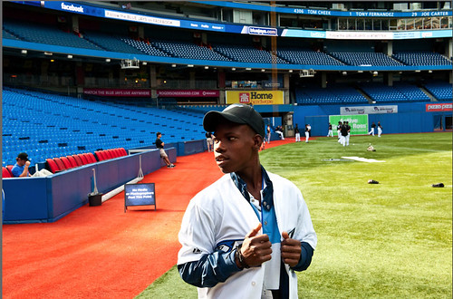 16-year-old Joseph from Haiti at his first Blue Jays game