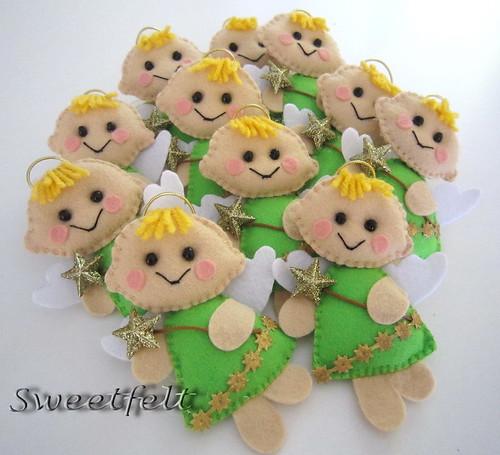 ♥♥♥  Os meus loirinhos!! by sweetfelt \ ideias em feltro