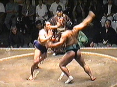 VHS Sumo Canada Basho 1998 JPG 07 (CanadaGood) Tags: people canada color colour sports vancouver analog person bc stadium britishcolumbia wrestling 1998 sumo nineties pacificcoliseum canadagood vhstapecapture