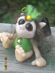 OOAK Pixie Fae Willow (Woodlandkreatures) Tags: sculpture woodland miniature handmade ooak pixie polymerclay fairy fantasy artdoll fae fairie ooakpuresculpt