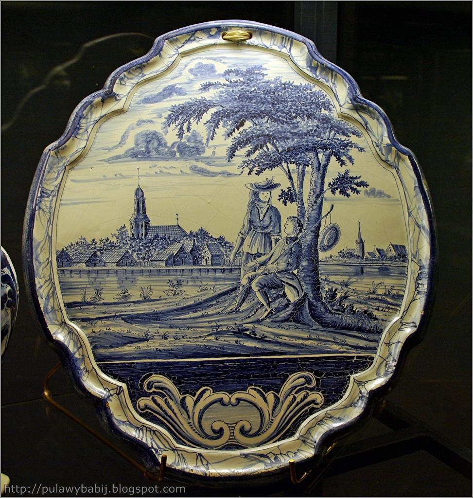 Fajans holenderski, Plakieta dekoracyjna