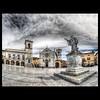 Norcia - Piazza San Benedetto (R.o.b.e.r.t.o.) Tags: italy italia pg roberto umbria norcia stbenedict palazzocomunale valnerina piazzasanbenedetto nikond700 basilicadisanbenedetto sigmafisheye15mm hdr9raw