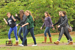 4 out of 6 girls prefer Uggs (fgfathome) Tags: goldengatepark park school girls walking walkathon sacredheartcathedralpreparatory