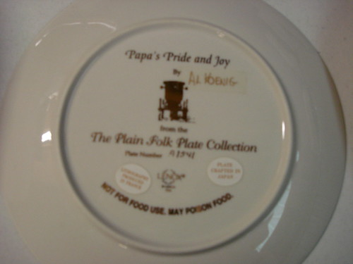 35 for the set of 6  lenox the plain folk plate collection by al koenig