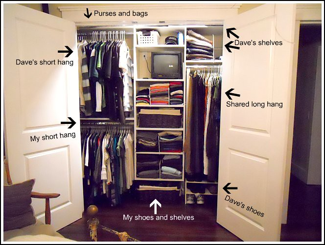 How We Organize Our Master Closet Andrea Dekker