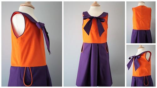 paars en oranje