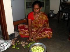 Halima Begum prepares lunch