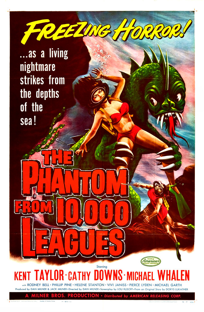 Albert Kallis - The Phantom from 10,000 Leagues (American Releasing Corp., 1955) One Sheet
