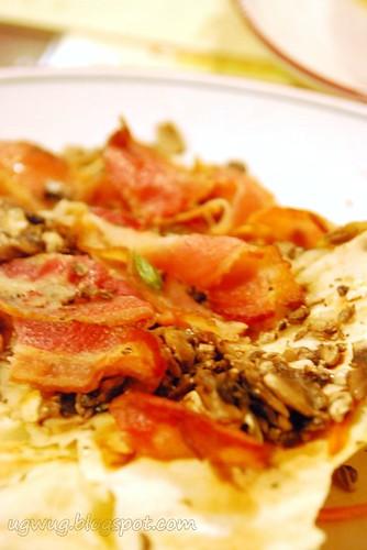 Bacon & Mushroom Crepe