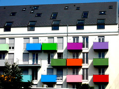 Bunte  Balkone, Depot Tbingen, here: under construction (eagle1effi) Tags: city building architecture germany deutschland construction colorful balkon places stadt architektur depot bauwerk tuebingen gebude bunt fassade tbingen balkone tubingen badenwurttemberg wrttemberg badenwuerttemberg bunte bauwerke tubinga depottbingen depotareal dibenga stadttbingen tbingenamneckar depotstrasse beautifulcityoftubingengermany beautifulcityoftbingengermany