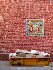 Skips and Saints, Malaga, Andalucia (Fin Wright) Tags: church wall canon landscape ian landscapes spain andalucia powershot espana wright fin skip malaga ianwright g10 finwright finwrightphotographycouk finwrightphotography