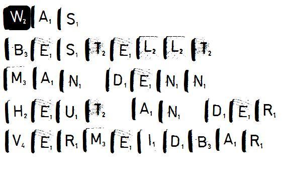 Vermeidbar.Scrabble