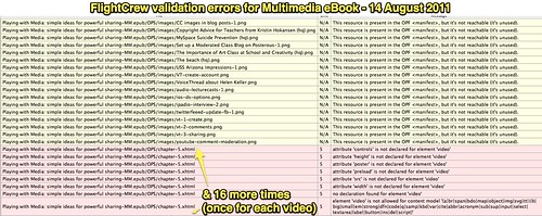 FlightCrew validation errors for Multimedia eBook - 14 August 2011