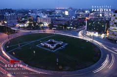 Liberty Roundabout, Gulberg, Lahore. (RzzA) Tags: pakistan night liberty evening nikon long exposure shot roundabout punjab reza lahore milestone gulberg d90 rzza wwwstudiorbiz