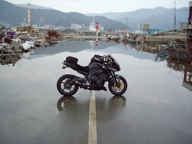 FZ1 in the post Tsunami tidal zone in Ofunato