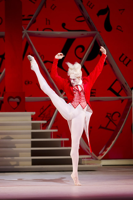 "Edward Watson as The White Rabbit in in Christopher Wheeldon's Alice's Adventures in Wonderland. The Royal Ballet 2010/11 season. <a href=""http://www.roh.org.uk/productions/alices-adventures-in-wonderland-by-christopher-wheeldon"" rel=""nofollow"">www.roh.org.uk/productions/alices-adventures-in-wonderlan...</a>"