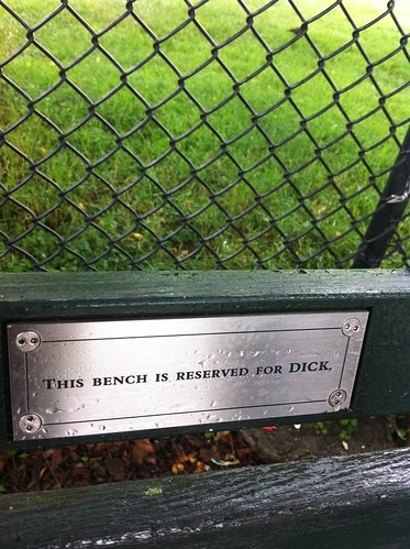 The Mysterious Plaques On Central Park Benches Broke Ass Stuart S