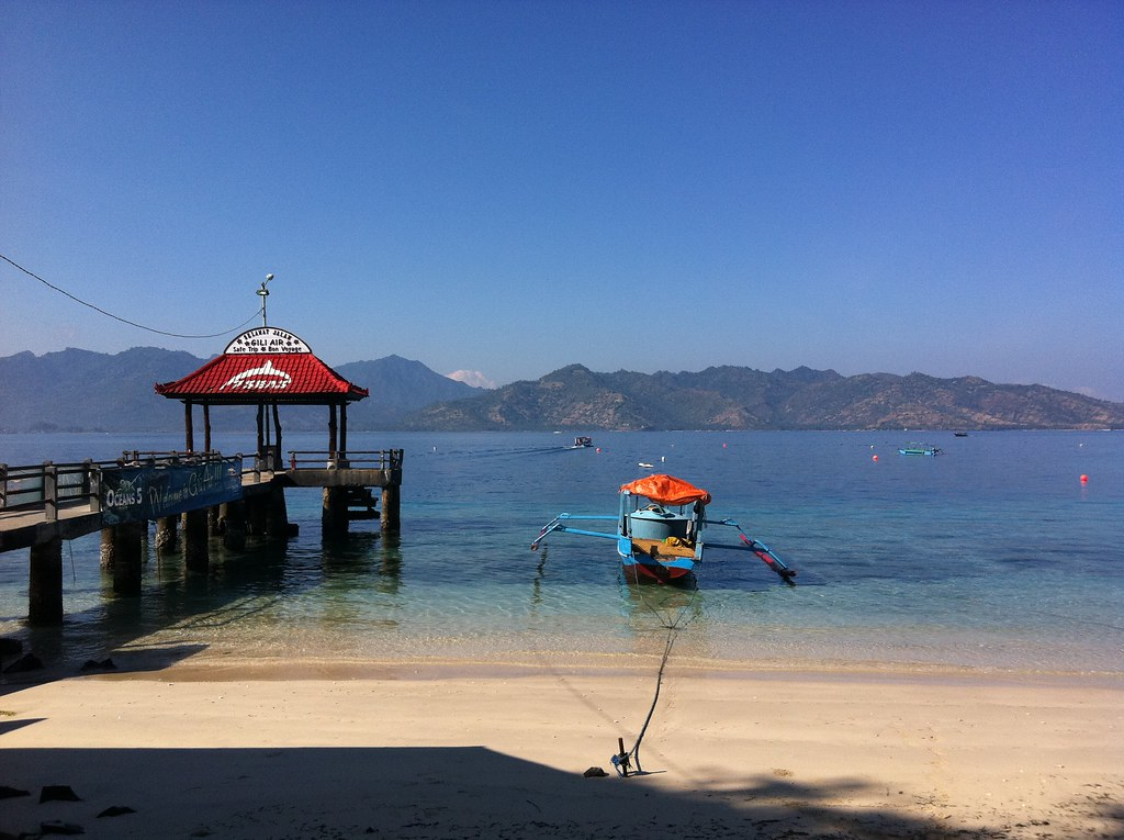 The main pier, Gili Air, Lombok, Indonesia
