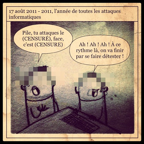 Le dessin du jour : 2011 l'année de toutes les attaques informatiques.