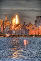 Reflective Sunset (jeffs4653) Tags: usa newyork skyline river restaurant newjersey unitedstates manhattan hudson hdr weehawken charthouse photomatix