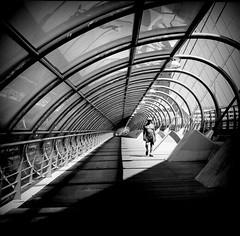 Zaragoza - Spain (Alvaro Arregui) Tags: bridge urban bw espaa film blackwhite spain fuji kodak lofi streetphotography zaragoza hasselblad 400 pro bwfilm hasselblad503 hasselblad503cx hasselblad500 alvaroarregui