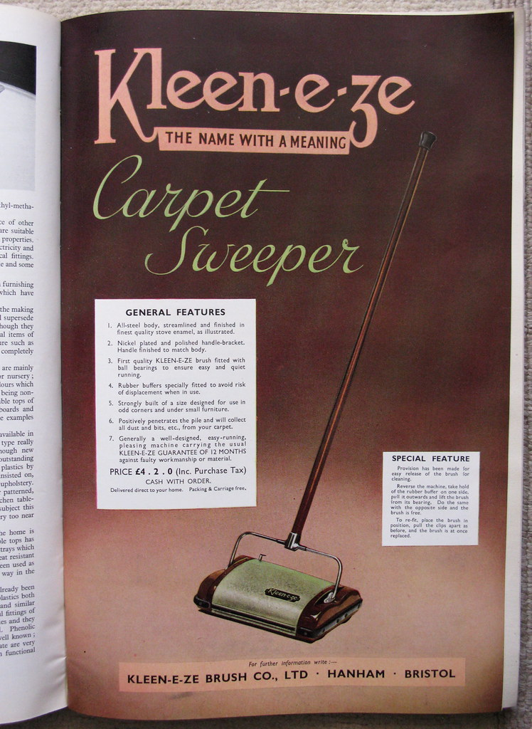 """Kleen-e-ze Carpet Sweeper"""" - advert, 1947"""
