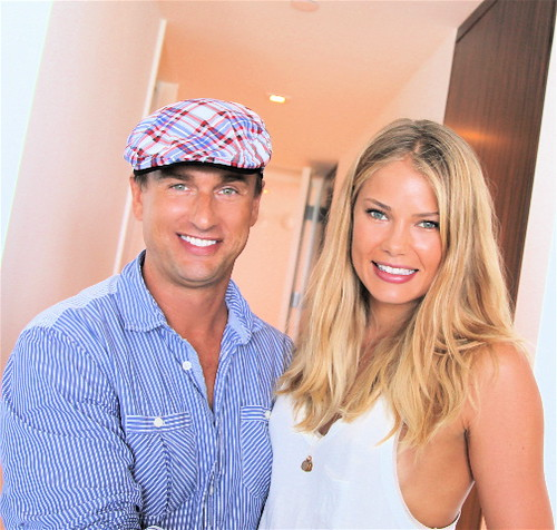 Jonathan Yaskoff and supermodel Tori Praver- Mercedes Benz Fashion Week Miami 2011