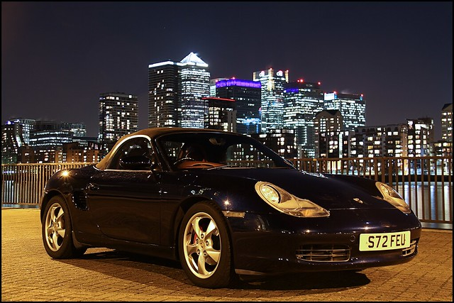 Porsche Boxster - Canary Wharf (Remember to clean your car! Haha)