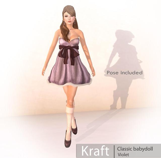 [Kraft] Classic babydoll Violet