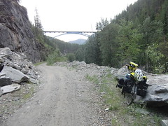 022 Paulson Bridge (paulsinbc) Tags: mountain rail railway western kvr paulsonbridge trail columbia fargo salsa jandd panniers