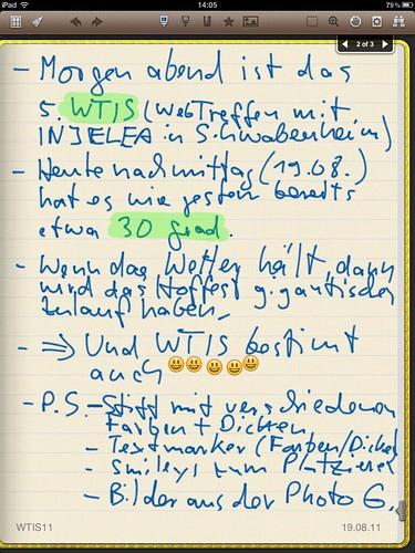 Noteshelf im Einsatz: Die Oberfläche