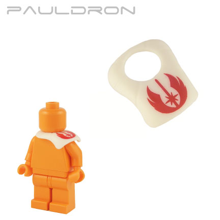 Pauldron - White (red Jedi Order print)