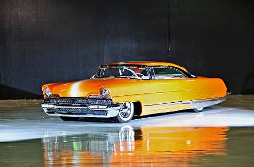 """1956 Lincoln Premiere """"Dreamsicle"""" Hot Rod"""