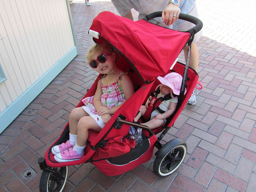 We have a borrowed double stroller, we are sunscreen'd up and we are READY.