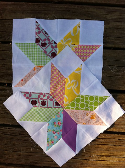August blocks for do. Good Stitches, Peace circle