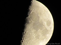 Moon, Luna. ISO-80, exp. 1/25s, zoom 4