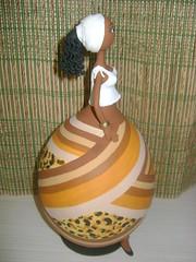 Negras Africanas em Cabaça e Biscuit (Dani Oliveira- Arte em Cabaça e Biscuit) Tags: artesanato negras africanas bicuit arteemcabaça