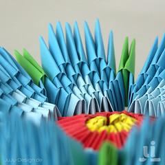 Blte - Modulares Origami (JuLi-Design) Tags: flower paper 3d origami blossom modular fold blume blte papier falten goldenventure tangrami